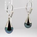 Tahitian Pearl/Diamond Earrings 14kw