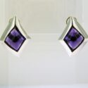 Free form Amethyst Earrings 14kw