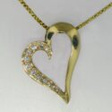 Diamond heart shaped Pendant 14ky