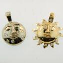 Moon & Sun Pendants 14kw and 14ky