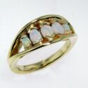 Oval 5 Opal Ring 14ky