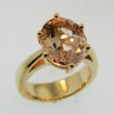 Oval Morganite Ring 14k rose/yellow