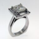 Baguette and Princess cut Diamond Ring 18kw 2